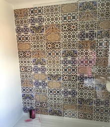 Another Recent Customer Project A New Shower Room Using Alhambra Tiles As The Feature Wall There Are Eight Different Patterns That Can We Used Singularly Or In A Mixed Pattern As Shown Here