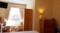 Standard Ensuite Room 1 overlooks our garden at Chester Brooklands Bed and Breakfast.