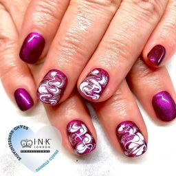 Purple Heart Nails