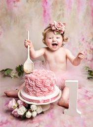 1 year old Birthday cake smash photography
