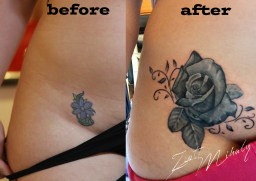 rose tattoo cover up @ Stotker Tattoo