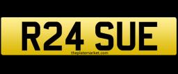 Sue Susan personalised number plate