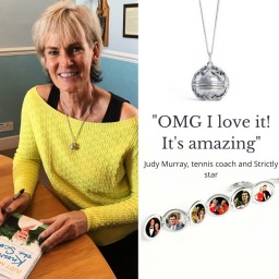 Judy Murray wears the Lily Blanche Memory Keeper L
