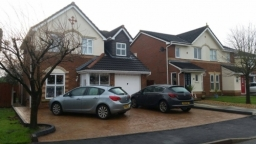 stamp concrete driveway installed in Lowton Warrington