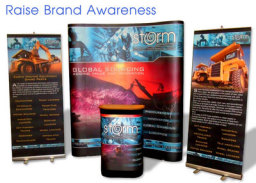 Exhibition Displays, Flyers, Brochures and posters for a World leading procurement company