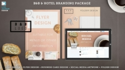 B and B, cafe/bar, restaurant Brand Package