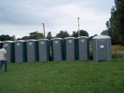 Single portable toilets
