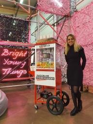Popcorn machine hire corporate event aylin sweets