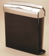 INTIMA 23ltr Sanitary Hygiene Unit - Black & Chrome