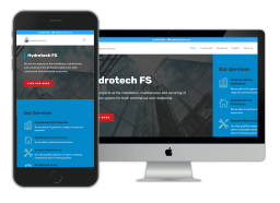 Hydrotech FS website design