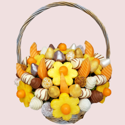 Golden Queen Fruit Basket- Edible Fruit Flowers