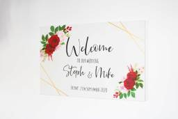 """Hand painted """"Welcome to our Wedding"""" board"""