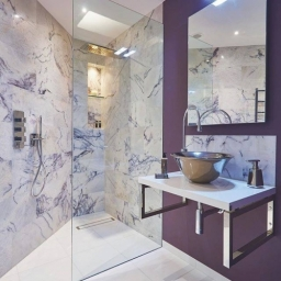 Wow This Is Stunning Amethyst Marble From Ca Pietra The Veining Makes Each Piece An Individual Work Of Art