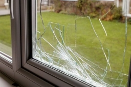 broken glass, broken windows repaired