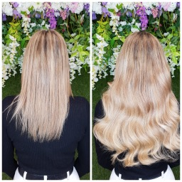 The Extensionist - Hair extensions salon b&a clien