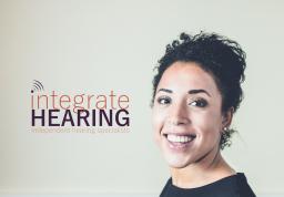 Olivia Austin Integrate Hearing Stockport Logo