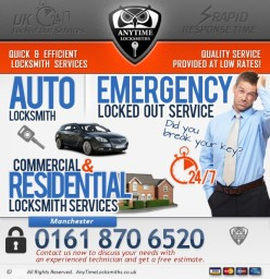 Anytime Locksmiths | 0161 870 6520 | 24/7 working