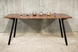 Walnut & Copper Dining Table   KODA STUDIOS