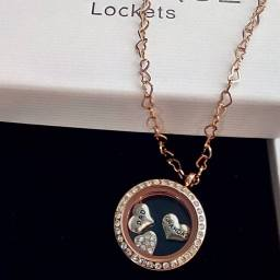 rose gold heirloom family locket