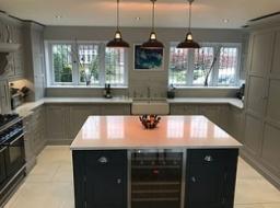 Edwardian Shaker grey kitchen