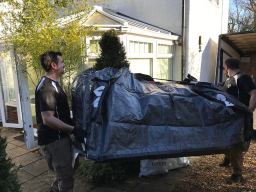Your sofas and Mattress get put into carry bags