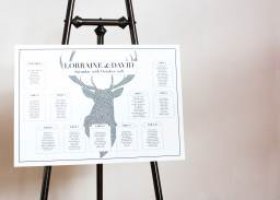 """""""Stag"""" Table plan designed for wedding"""