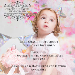 Cake Smash Photoshoot - Framed A3 and Two 8x6
