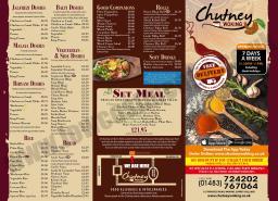 Chutney Menu Page 1
