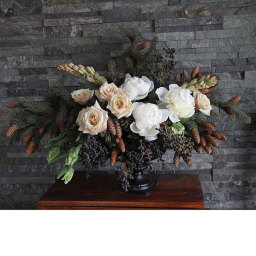 Winter Wedding Flowers by Cream and Browns Florist