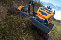 Wireless robot mower for challenging situations
