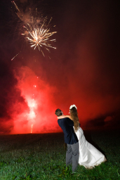 Wedding firework display Gloucestershire