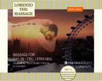 MASSAGE for ★MEN (STR-GAY-BI-CRU) by ★MALE MASSEUR at Your HOTEL/HOME  (Just out-call in London) Gay friendly massage london