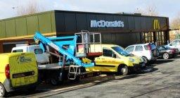 Electrician in Birmingham working a McDonalds