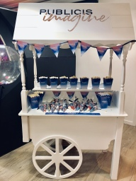 sweet cart hire corporate event branded