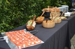 Flame BBQ has rustic display suits marquee, tent and barn wedding venue.