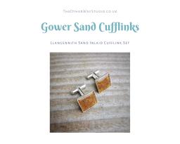 Llangennith, Gower Sand Inlaid Cufflink Set