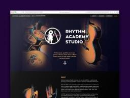Rhythm Academy Studio Website Design