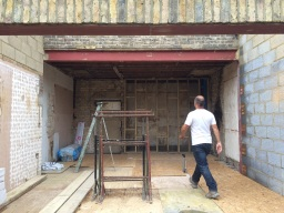 Steel box frame - rear wall removal