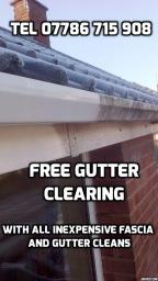 Complimentary clearing with gutter cleans