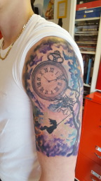clock daughter London Blue Lady Tattoo