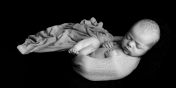 Low Key newborn photograph