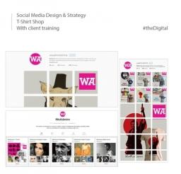 Client Social Media Design Strategy for T-Shirt Shop