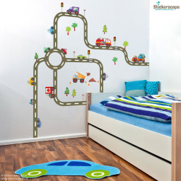 Road transport wall sticker
