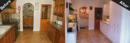 Satin White Kitchen Makeover Congleton