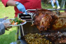 Flame BBQ Hog Roast is slow roasted from fresh.
