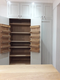 Hand made kitchen built in larder unit example