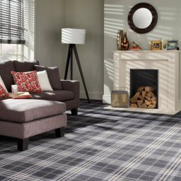 TARTANESQUE GLEN ROSA CARPET ROOMSHOT MOSELEY INTE