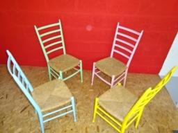 Shabby Chic Retro Dining Chairs