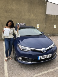 Student passed 1st time in Croydon test centre.