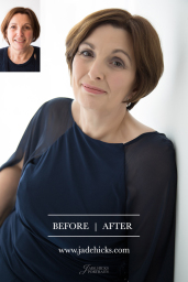 Before and After Makeover Portrait Jade Hicks
